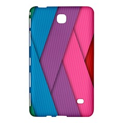 Abstract Background Colorful Strips Samsung Galaxy Tab 4 (7 ) Hardshell Case  by Nexatart