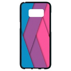 Abstract Background Colorful Strips Samsung Galaxy S8 Black Seamless Case by Nexatart