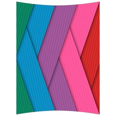 Abstract Background Colorful Strips Back Support Cushion by Nexatart