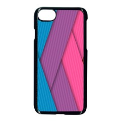 Abstract Background Colorful Strips Apple Iphone 8 Seamless Case (black)