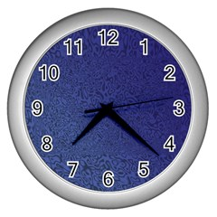 Fractal Rendering Background Blue Wall Clocks (silver)  by Nexatart