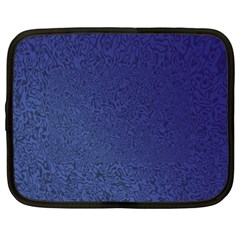 Fractal Rendering Background Blue Netbook Case (large)