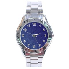 Fractal Rendering Background Blue Stainless Steel Analogue Watch