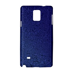 Fractal Rendering Background Blue Samsung Galaxy Note 4 Hardshell Case