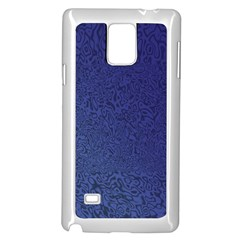 Fractal Rendering Background Blue Samsung Galaxy Note 4 Case (white)