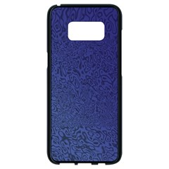 Fractal Rendering Background Blue Samsung Galaxy S8 Black Seamless Case