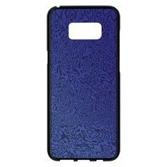 Fractal Rendering Background Blue Samsung Galaxy S8 Plus Black Seamless Case
