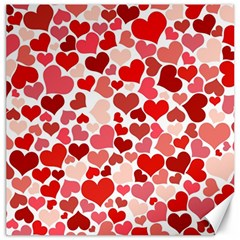 Abstract Background Decoration Hearts Love Canvas 16  X 16