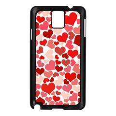 Abstract Background Decoration Hearts Love Samsung Galaxy Note 3 N9005 Case (black)