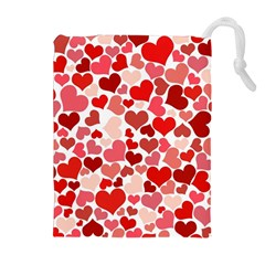 Abstract Background Decoration Hearts Love Drawstring Pouches (extra Large) by Nexatart