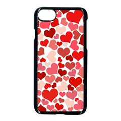 Abstract Background Decoration Hearts Love Apple Iphone 7 Seamless Case (black)