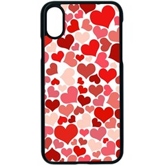 Abstract Background Decoration Hearts Love Apple Iphone X Seamless Case (black)