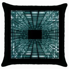 Abstract Perspective Background Throw Pillow Case (black) by Nexatart