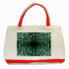 Abstract Perspective Background Classic Tote Bag (red)