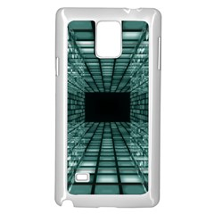Abstract Perspective Background Samsung Galaxy Note 4 Case (white)