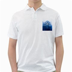 Nature Inspiration Trees Blue Golf Shirts