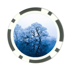Nature Inspiration Trees Blue Poker Chip Card Guard