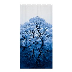 Nature Inspiration Trees Blue Shower Curtain 36  X 72  (stall)  by Nexatart