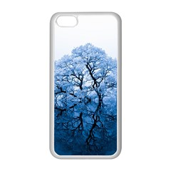 Nature Inspiration Trees Blue Apple Iphone 5c Seamless Case (white)