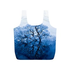 Nature Inspiration Trees Blue Full Print Recycle Bags (s)  by Nexatart