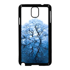 Nature Inspiration Trees Blue Samsung Galaxy Note 3 Neo Hardshell Case (black) by Nexatart
