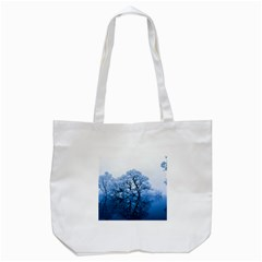 Nature Inspiration Trees Blue Tote Bag (white)