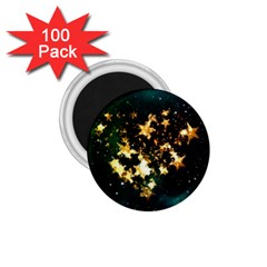 Heart Love Universe Space All Sky 1 75  Magnets (100 Pack)  by Nexatart