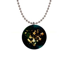 Heart Love Universe Space All Sky Button Necklaces