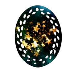 Heart Love Universe Space All Sky Ornament (oval Filigree)