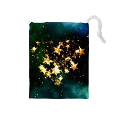 Heart Love Universe Space All Sky Drawstring Pouches (medium)