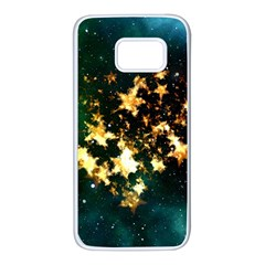 Heart Love Universe Space All Sky Samsung Galaxy S7 White Seamless Case