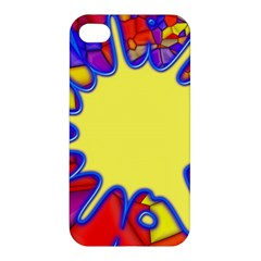 Embroidery Dab Color Spray Apple Iphone 4/4s Premium Hardshell Case