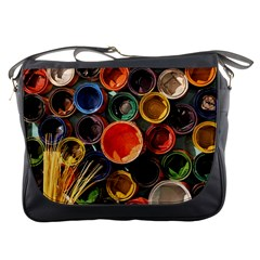 Color Box Colorful Art Artwork Messenger Bags