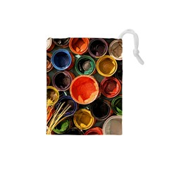 Color Box Colorful Art Artwork Drawstring Pouches (small)