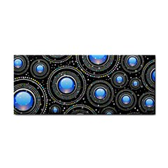 Background Abstract Glossy Blue Hand Towel