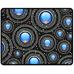 Background Abstract Glossy Blue Fleece Blanket (medium)