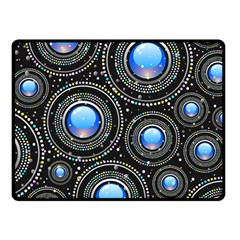 Background Abstract Glossy Blue Fleece Blanket (small)