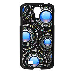 Background Abstract Glossy Blue Samsung Galaxy S4 I9500/ I9505 Case (black)