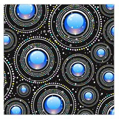 Background Abstract Glossy Blue Large Satin Scarf (square)