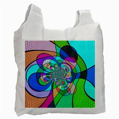 Retro Wave Background Pattern Recycle Bag (two Side)
