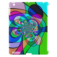 Retro Wave Background Pattern Apple Ipad 3/4 Hardshell Case (compatible With Smart Cover)