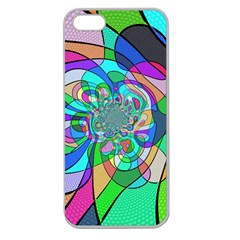 Retro Wave Background Pattern Apple Seamless Iphone 5 Case (clear)
