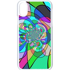 Retro Wave Background Pattern Apple Iphone X Seamless Case (white) by Nexatart