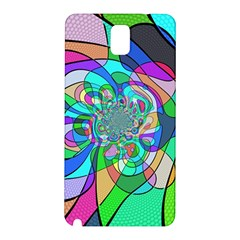 Retro Wave Background Pattern Samsung Galaxy Note 3 N9005 Hardshell Back Case