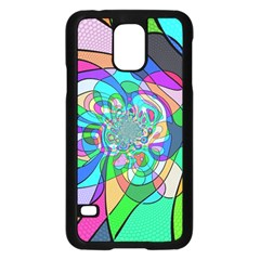 Retro Wave Background Pattern Samsung Galaxy S5 Case (black)