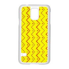Yellow Background Abstract Samsung Galaxy S5 Case (white)