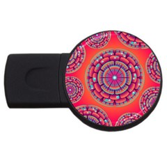 Floral Background Texture Pink Usb Flash Drive Round (2 Gb)