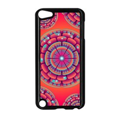 Floral Background Texture Pink Apple Ipod Touch 5 Case (black) by Nexatart