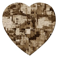 Color Abstract Background Textures Jigsaw Puzzle (heart)