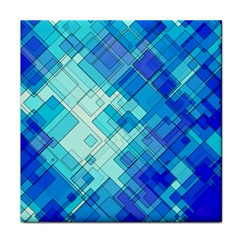 Abstract Squares Arrangement Tile Coasters